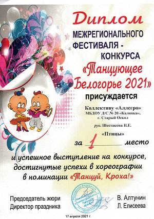 В ДС «Аркада» состоялся VI Межрегиональный фестиваль-конкурс хореографического искусства «Танцующее Белогорье»
